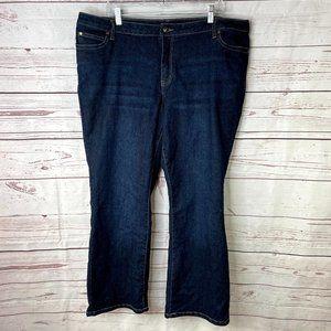 Denim 24/7 Women's Straight Leg Dark Wash Jeans